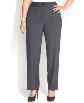 Calvin Klein Plus Size Wide-Leg Dress Pants
