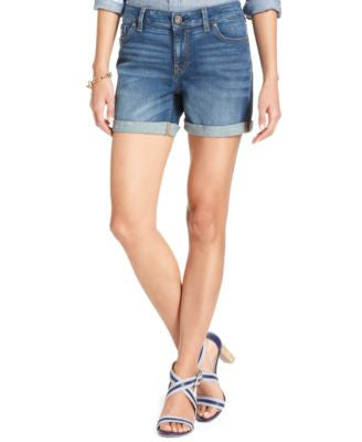 Tommy Hilfiger Cuffed Denim Shorts, Only at Vogily