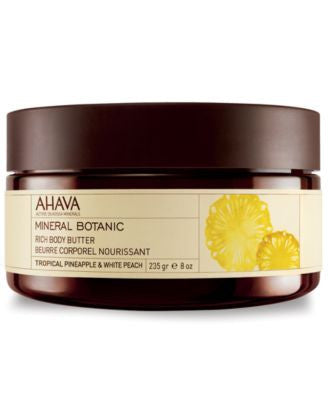 Ahava Mineral Botanic Tropical Pineapple & White Peach Rich Body Butter