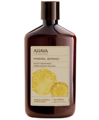 Ahava Mineral Botanic Tropical Pinapple & White Peach Velvet Cream Wash