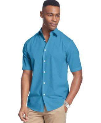 John Ashford Short Sleeve Shadow Stripe Shirt