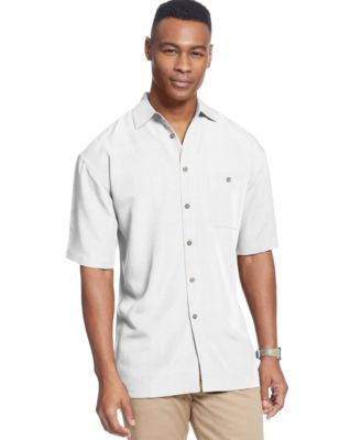 Campia Moda Big and Tall Short Sleeve Solid Textured Shirt