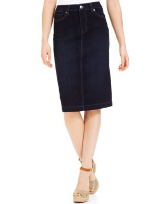 Style & Co. Petite Denim Skirt, Rinse Wash