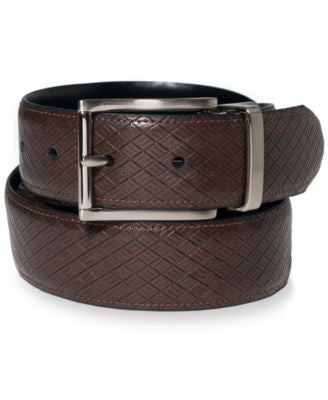Tasso Elba 35MM Diamond Embossed Reversible Belt