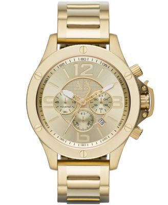 A|X Armani Exchange Men's Chronograph Gold Ion-Plated Stainless Steel Bracelet Watch 48mm AX1504
