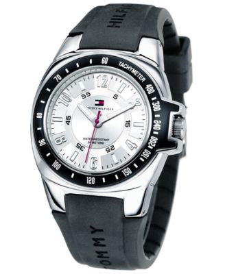 Tommy Hilfiger Watch, Men's Rubber Strap 1790485