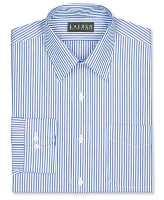 Lauren Ralph Lauren Non-Iron Slim-Fit Blue Bengal Stripe Dress Shirt