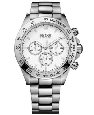 BOSS Hugo Boss Men's Chronograph Stainless Steel Bracelet Watch 44mm 1512962