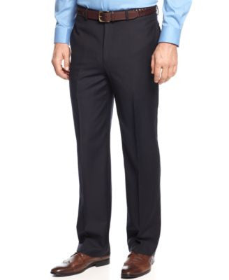 Greg Norman for Tasso Elba Navy Herringbone Pants
