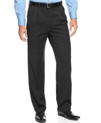 Lauren Ralph Lauren Black Stripe Dress Pants