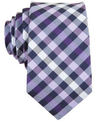 Penguin Odo Plaid Skinny Tie
