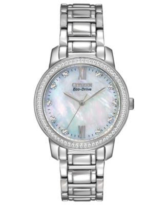 Citizen Women's Eco-Drive Stainless Steel Bracelet Watch 35mm EM0110-51D - A Vogily Exclusive