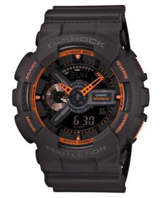 G-Shock Men's Analog-Digital Gray Resin Strap Watch 55x52mm GA110TS-1A4