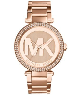 Michael Kors Women's Parker Rose Gold-Tone Stainless Steel Bracelet Watch 39mm MK5865