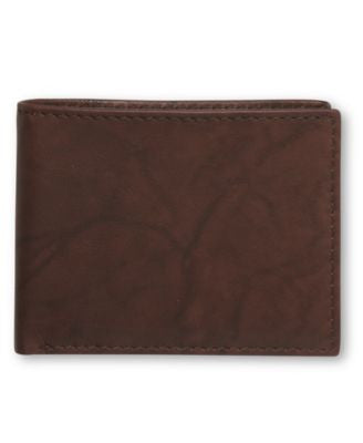 Tasso Elba Cow Antique Bifold Passcase Wallet