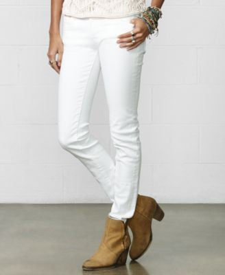 Denim & Supply Ralph Lauren Skinny Jeans, White Wash