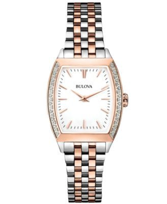 Bulova Women's Diamond Accent Two-Tone Stainless Steel Bracelet Watch 26mm 98R200