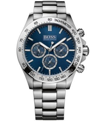 BOSS Hugo Boss Men's Chronograph Stainless Steel Bracelet Watch 44mm 1512963