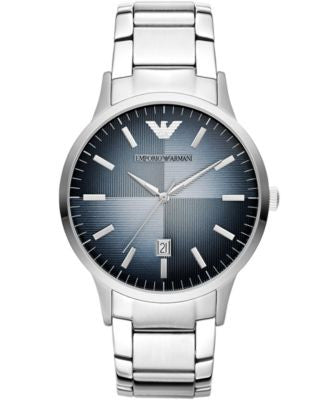 Emporio Armani Unisex Renato Stainless Steel Bracelet Watch 43mm AR2472