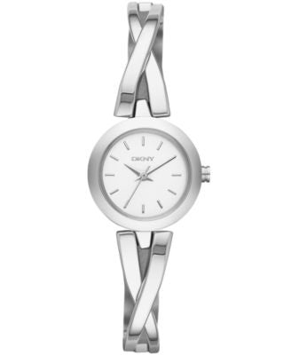 DKNY Women's Crosswalk Stainless Steel Half-Bangle Bracelet Watch 20mm NY2169