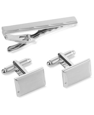 Geoffrey Beene Cufflinks and Short Tie Clip Gift Set