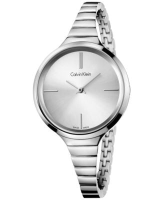 Calvin Klein Women's Swiss Stainless Steel Bracelet Watch 34mm K4U23126