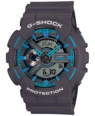 G-Shock Men's Analog-Digital XL Gray Resin Strap Watch 55x51mm GA110TS-8A2