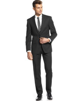 DKNY Black Pindot Suit Separates Extra Slim Fit