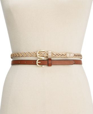 Style&co. 2 for 1 Braided Belt