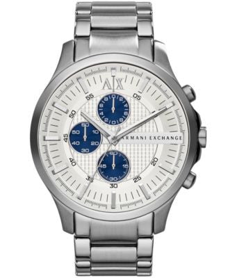 A|X Armani Exchange Men's Chronograph Stainless Steel Bracelet Watch 46mm AX2136