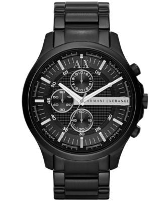 A|X Armani Exchange Men's Chronograph Black Ion-Plated Stainless Steel Bracelet Watch 46mm AX2138
