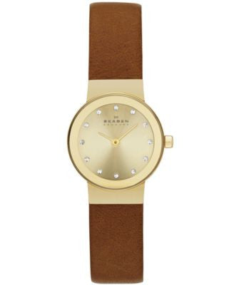Skagen Women's Saddle Leather Strap Watch 22mm SKW2175