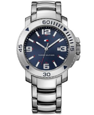 Tommy Hilfiger Men's Silver-Tone Bracelet Watch 43mm 1790924