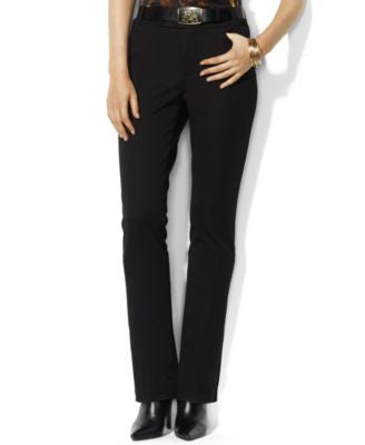 Lauren Ralph Lauren Stretch-Twill Straight-Leg Pants