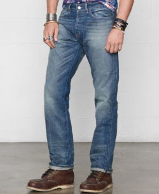 Denim & Supply Ralph Lauren Men's Straight-Fit Traverse-Wash Jeans