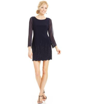 Xscape Petite Beaded Sheath Dress