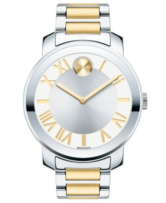 Movado Women's Bold Two-Tone Stainless Steel Bracelet Watch 39mm 3600208