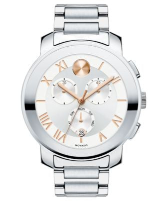 Movado Women's Chronograph Bold Stainless Steel Bracelet Watch 40mm 3600205