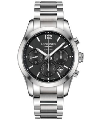 Longines Men's Swiss Automatic Chronograph Conquest Classic Stainless Steel Bracelet Watch 41mm L278