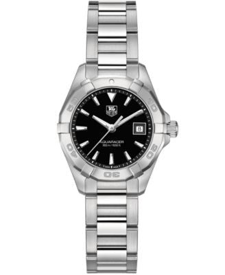 TAG Heuer Women's Swiss Aquaracer Stainless Steel Bracelet Watch 27mm WAY1410.BA0920