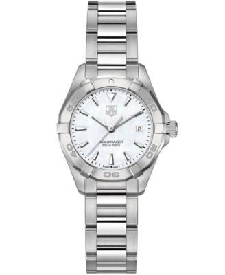TAG Heuer Women's Swiss Aquaracer Stainless Steel Bracelet Watch 27mm WAY1412.BA0920