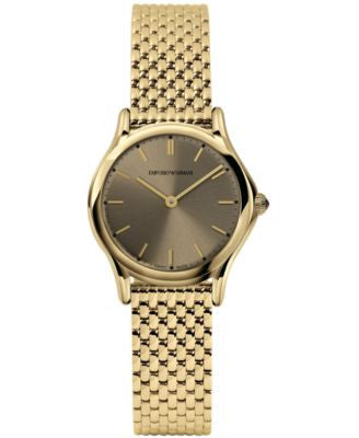 Emporio Armani Women's Swiss Gold-Tone Stainless Steel Bracelet Watch 28mm ARS7002