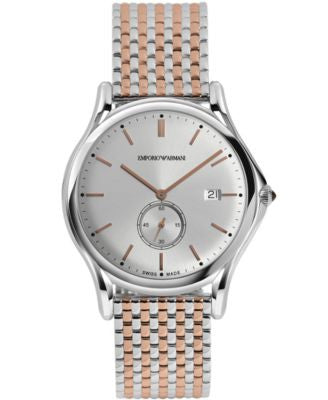 Emporio Armani Men's Swiss Two-Tone Stainless Steel Bracelet Watch 40mm ARS1007