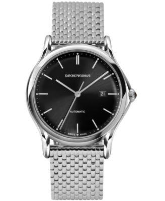 Emporio Armani Men's Swiss Automatic Stainless Steel Bracelet Watch 42mm ARS3005