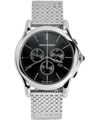 Emporio Armani Men's Swiss Chronograph Stainless Steel Bracelet Watch 42mm ARS4005