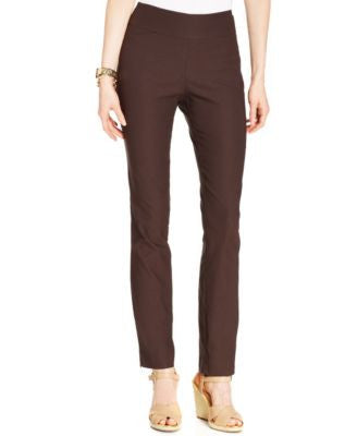 Charter Club Cambridge Tummy-Control Slim-Leg Pants, Only at Vogily