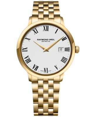 RAYMOND WEIL Men's Swiss Toccata Gold PVD-Coated Stainless Steel Bracelet Watch 39mm 5488-P-00300