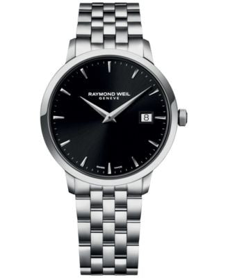 RAYMOND WEIL Men's Swiss Toccata Stainless Steel Bracelet Watch 39mm 5488-ST-20001 - A Vogily Exclus