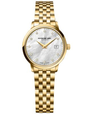 RAYMOND WEIL Women's Swiss Toccata Diamond Accent Gold PVD-Covered Stainless Steel Bracelet Watch 29