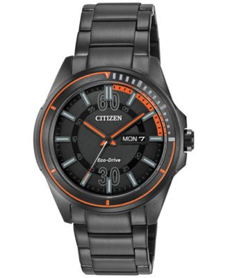 Citizen Men's Drive from Citizen Eco-Drive Black Ion-Plated Stainless Steel Bracelet Watch 43mm AW00
